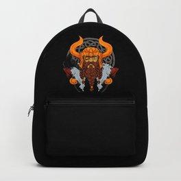 Viking God Odin - Raven Warrior Valhalla Valknut Backpack