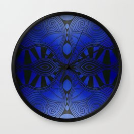 Why So Blue Wall Clock