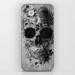 Garden Skull B&W iPhone Skin