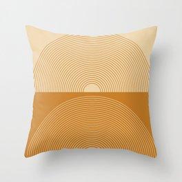 Minimal Rainbow Color Block X Throw Pillow