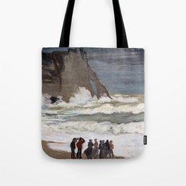 Claude Monet - Rough Sea at Etretat Tote Bag