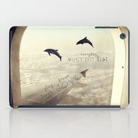 dolphins iPad Cases featuring Dolphins by Paula Belle Flores