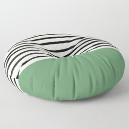 Moss Green x Stripes Floor Pillow