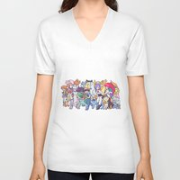anime V-neck T-shirts featuring Illustration anime by Jaimie Hutton