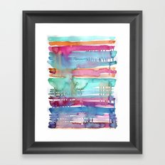 Water Stripes Framed Art Print