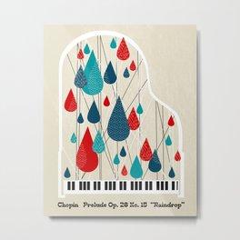 "Chopin - Prelude Op. 28 No. 15 ""Raindrop"" Metal Print"