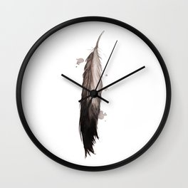 Feather Down Wall Clock