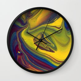 Paint Pouring 23 Wall Clock