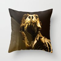 t rex Throw Pillows featuring T-Rex by Vito Fabrizio Brugnola