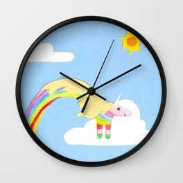 Lady in the sky Wall Clock