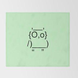 Text Owl Throw Blanket