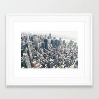 new york skyline Framed Art Prints featuring New York City Skyline by Vivienne Gucwa