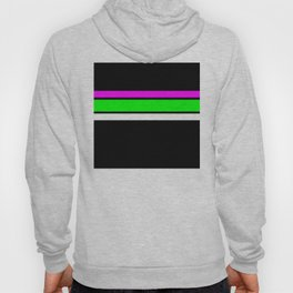 Team Colors 2....neon green and pink stripes Hoody