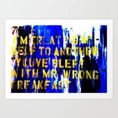 Texting 789: Art Print