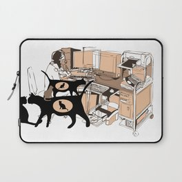 FERAL CAT COLONY IN THE OFFICE Laptop Sleeve