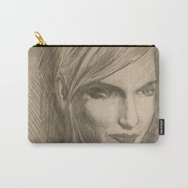 Home Decor Drawing Woman Digital Art Bedroom Decoration Original Wall Print Carry-All Pouch