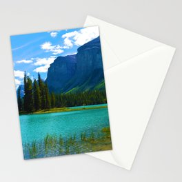 Maligne Lake in Jasper National Park, Canada Stationery Cards