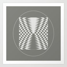 extraterrestrial crop circle, sacred geometry Art Print