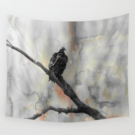 Perched Vulture Wall Tapestry