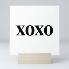 Black XOXO Mini Art Print