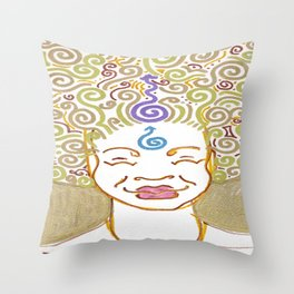 Blissful Soul Sister Throw Pillow