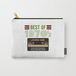 Best of 70s vintage Cassette gift for birthday Carry-All Pouch