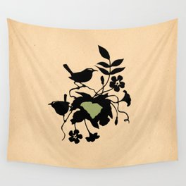 South Carolina - State Papercut Print Wall Tapestry