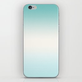 Ombre  light blue iPhone Skin