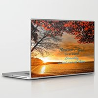 sayings Laptop & iPad Skins featuring Someday is not a Day! by Brown Eyed Lady