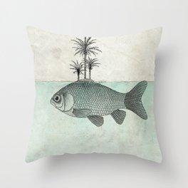 Paradise Goldfish Throw Pillow