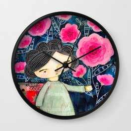 Quilted Princess Wall Clock