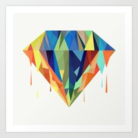 diamond Art Prints featuring Diamond by By Nordic