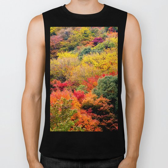 Autumn Forest Biker Tank