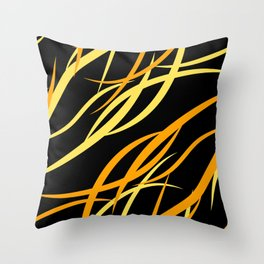 Pattern from colored intersecting flowing yellow lines in the nautical theme. Throw Pillow