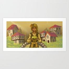 The Golden Girl Art Print