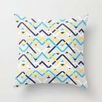 navy Throw Pillows featuring Navy by La Señora