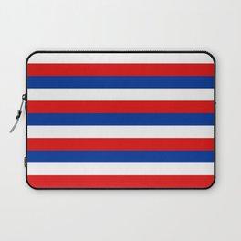 blue white red stripes Laptop Sleeve
