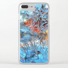 Frozen window Clear iPhone Case