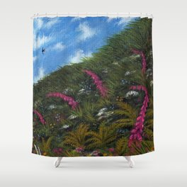 Foxglove Hedgerow Shower Curtain