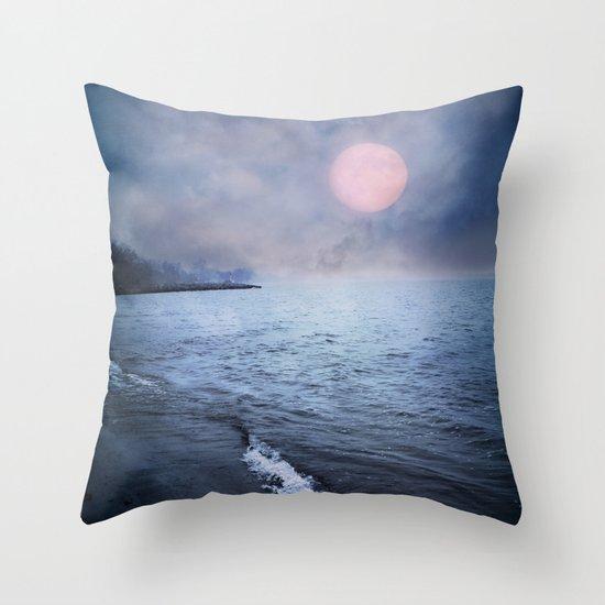 Moon Lake Throw Pillow