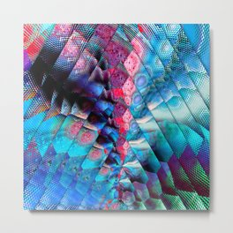 abstract blue triangles Metal Print