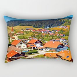 The village and the valley Rectangular Pillow