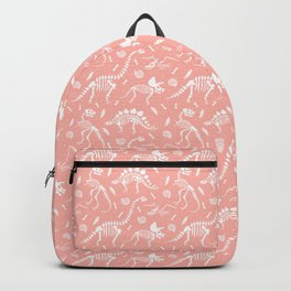 Dinosaur Fossils in Pink Backpack