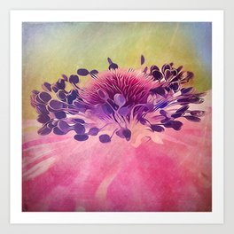 Flat Flower Cartoon Art Print