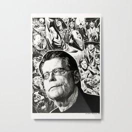 Stephen King by Anna Helena Szymborska Metal Print