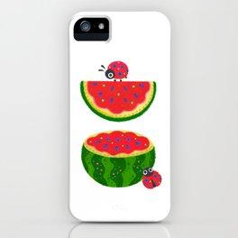 Watermelon&ladybug iPhone Case