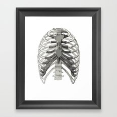 Vector Ribcage Framed Art Print