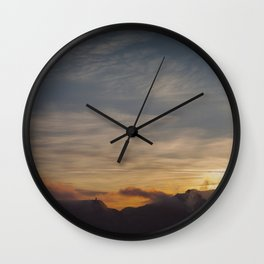 Faded sunset Wall Clock