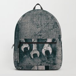 Dirty Monkey Spanner in Black and White Backpack