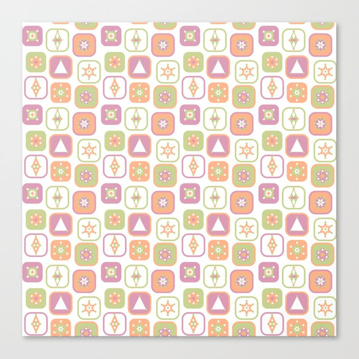 Abstract geometric pattern in pastel colors Canvas Print